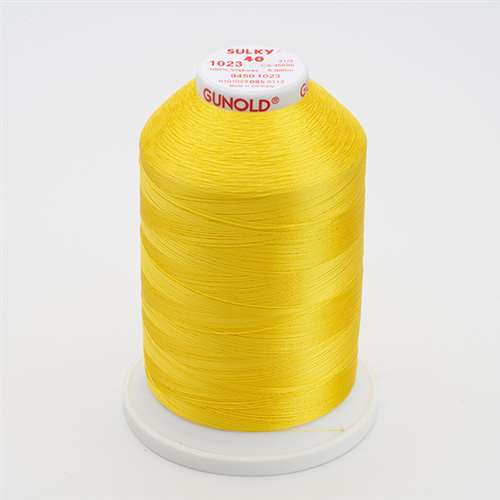 Sulky 40 wt 5500 Yard Rayon Thread - 940-1023 - Yellow
