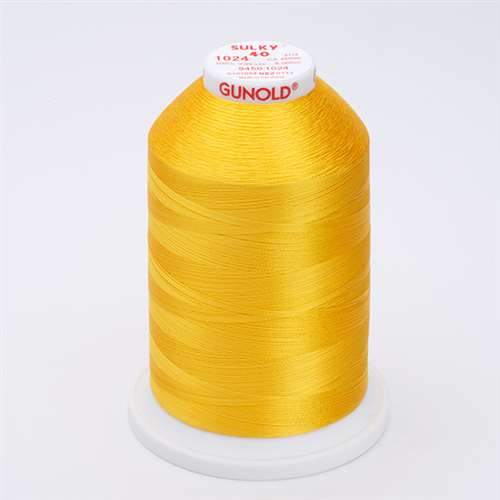 Sulky 40 wt 5500 Yard Rayon Thread - 940-1024 - Goldenrod