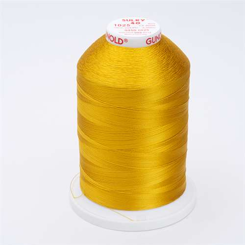 Sulky 40 wt 5500 Yard Rayon Thread - 940-1025 - Mine Gold