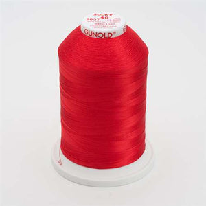 Sulky 40 wt 5500 Yard Rayon Thread - 940-1037 - t Red