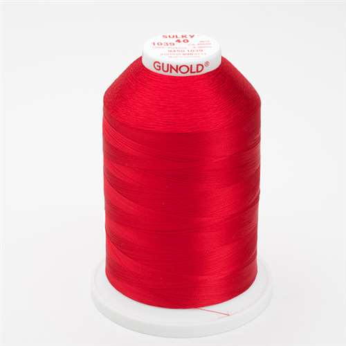Sulky 40 wt 5500 Yard Rayon Thread - 940-1039 - True Red