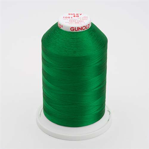 Sulky 40 wt 5500 Yard Rayon Thread - 940-1051 - Xmas Green