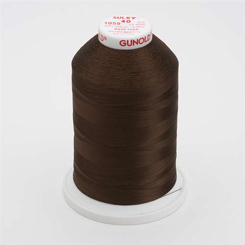 Sulky 40 wt 5500 Yard Rayon Thread - 940-1059 - Dark Tawny Brown