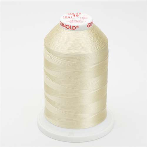 Sulky 40 wt 5500 Yard Rayon Thread - 940-1061 - Pale Yellow
