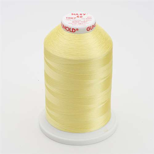 Sulky 40 wt 5500 Yard Rayon Thread - 940-1067 - Lemon Yellow
