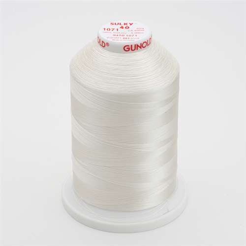 Sulky 40 wt 5500 Yard Rayon Thread - 940-1071 - Off White