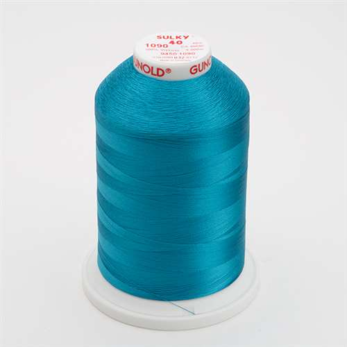 Sulky 40 wt 5500 Yard Rayon Thread - 940-1090 - Deep Peacock