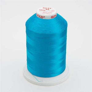 Sulky 40 wt 5500 Yard Rayon Thread - 940-1094 - Medium Turquoise