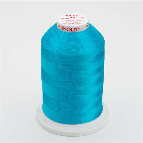 Sulky 40 wt 5500 Yard Rayon Thread - 940-1095 - Turquoise