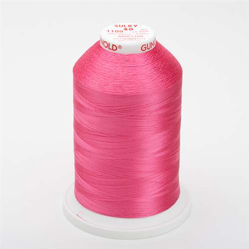 Sulky 40 wt 5500 Yard Rayon Thread - 940-1109 - Hot Pink
