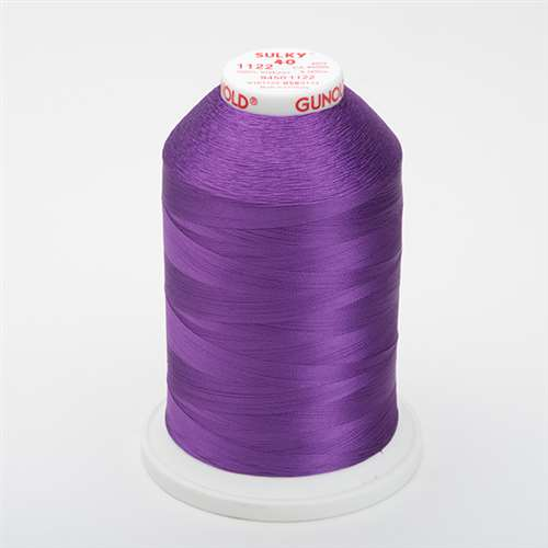 Sulky 40 wt 5500 Yard Rayon Thread - 940-1122 - Purple