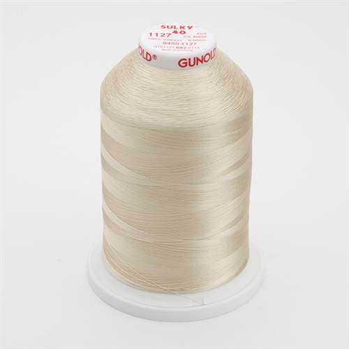 Sulky 40 wt 5500 Yard Rayon Thread - 940-1127 - Medium Ecru