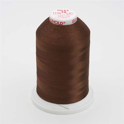 Sulky 40 wt 5500 Yard Rayon Thread - 940-1129 - Brown
