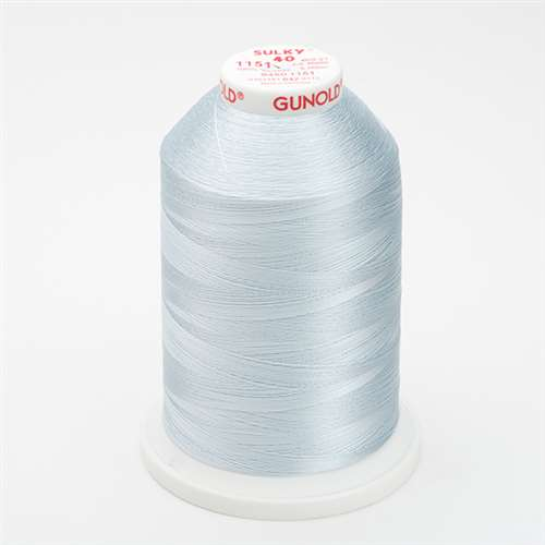Sulky 40 wt 5500 Yard Rayon Thread - 940-1151 - Powder Blue Tint