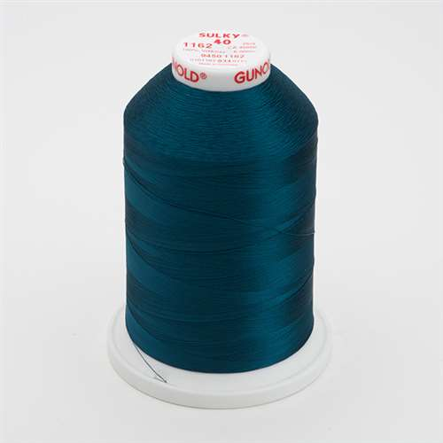 Sulky 40 wt 5500 Yard Rayon Thread - 940-1162 - Deep Teal