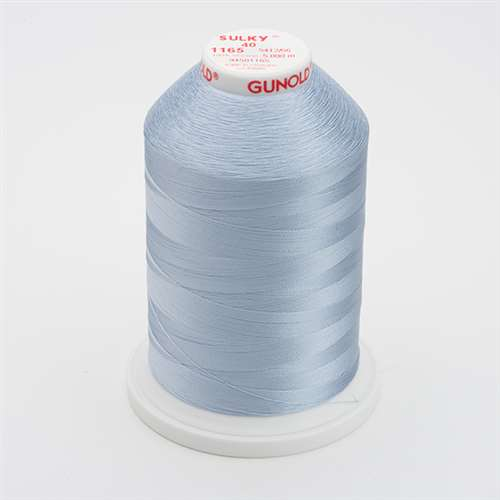 Sulky 40 wt 5500 Yard Rayon Thread - 940-1165 - Lt Sky Blue
