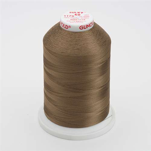 Sulky 40 wt 5500 Yard Rayon Thread - 940-1179 - Dark Taupe