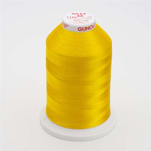 Sulky 40 wt 5500 Yard Rayon Thread - 940-1185 - Golden Yellow