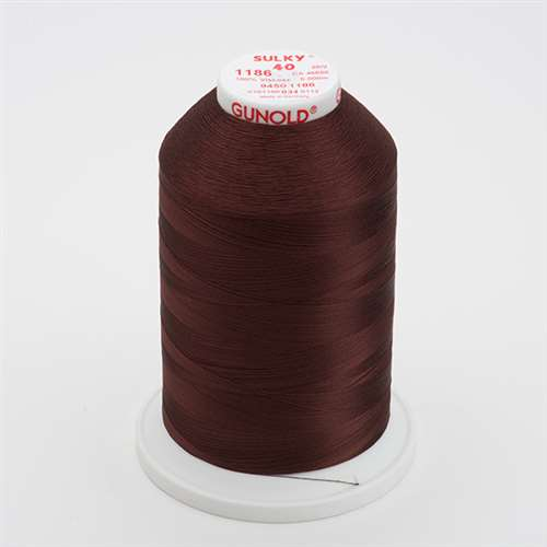 Sulky 40 wt 5500 Yard Rayon Thread - 940-1186 - Sable Brown