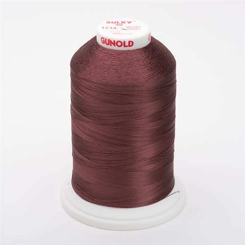 Sulky 40 wt 5500 Yard Rayon Thread - 940-1214 - Med. Chestnut