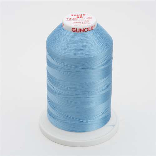 Sulky 40 wt 5500 Yard Rayon Thread - 940-1222 - Lt Baby Blue