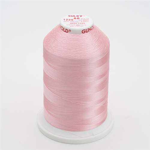 Sulky 40 wt 5500 Yard Rayon Thread - 940-1225 - Pastel Pink