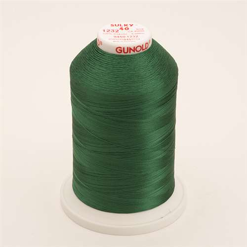 Sulky 40 wt 5500 Yard Rayon Thread - 940-1232 - Classic Green