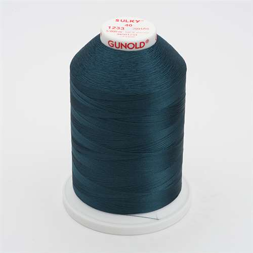 Sulky 40 wt 5500 Yard Rayon Thread - 940-1233 - Ocean Teal