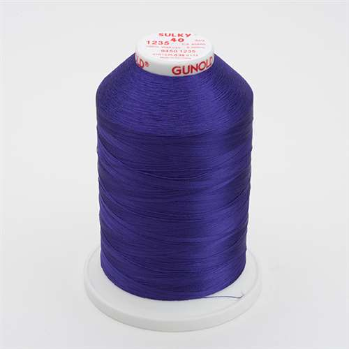 Sulky 40 wt 5500 Yard Rayon Thread - 940-1235 - Deep Purple