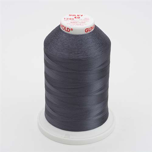 Sulky 40 wt 5500 Yard Rayon Thread - 940-1240 - Smokey Gray