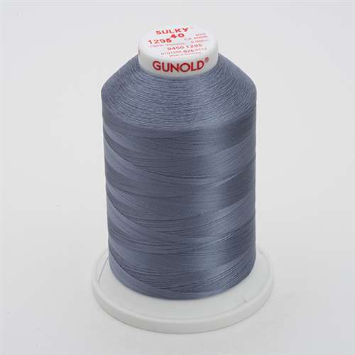 Sulky 40 wt 5500 Yard Rayon Thread - 940-1295 - Sterling