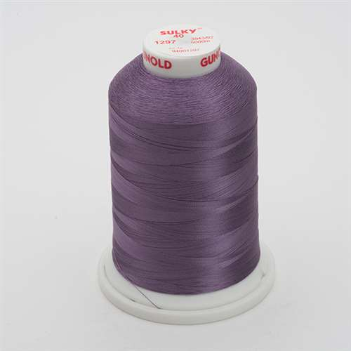 Sulky 40 wt 5500 Yard Rayon Thread - 940-1297 - Light Plum