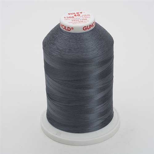 Sulky 40 wt 5500 Yard Rayon Thread - 940-1306 - Gun Metal Gray