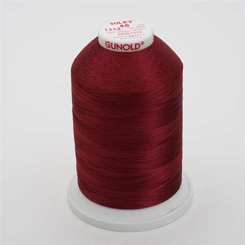 Sulky 40 wt 5500 Yard Rayon Thread - 940-1312 - Wine