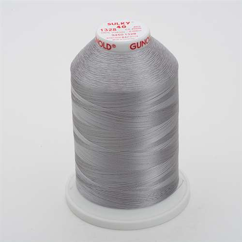 Sulky 40 wt 5500 Yard Rayon Thread - 940-1328 - Nickel Gray