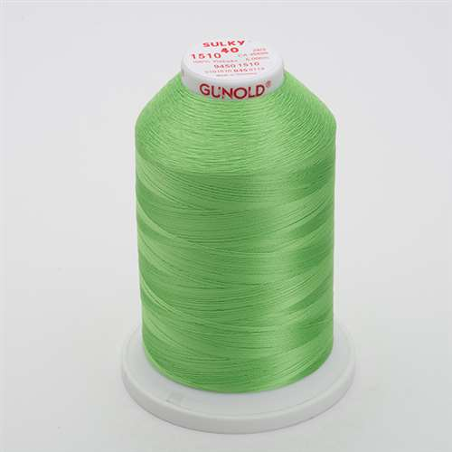 Sulky 40 wt 5500 Yard Rayon Thread - 940-1510 - Lime Green