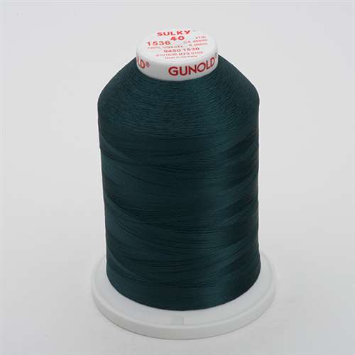 Sulky 40 wt 5500 Yard Rayon Thread - 940-1536 - Midnight Teal