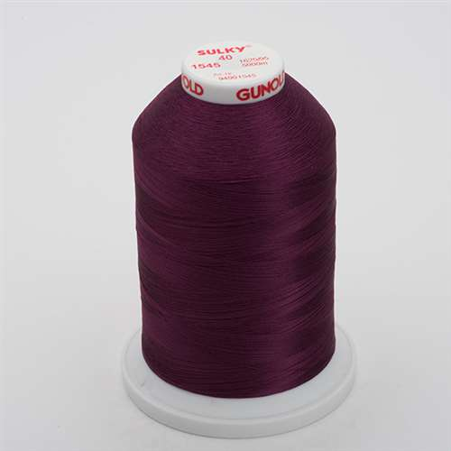 Sulky 40 wt 5500 Yard Rayon Thread - 940-1545 - Purple Accent