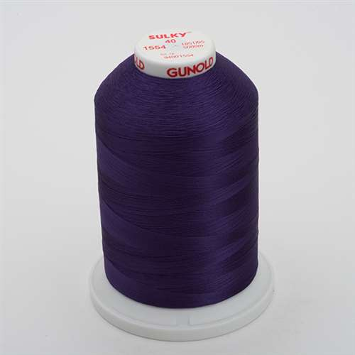 Sulky 40 wt 5500 Yard Rayon Thread - 940-1554 - Purple Passion