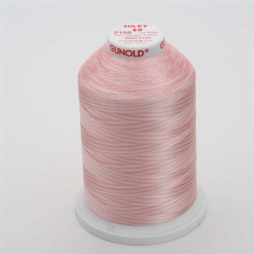 Sulky 40 wt 5500 Yard Rayon Thread - 940-2100 - Past/Pink Var