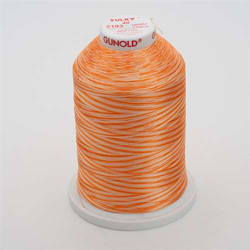 Sulky 40 wt 5500 Yard Rayon Thread - 940-2103 - Oranges Var.