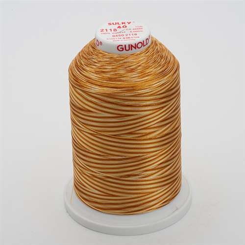 Sulky 40 wt 5500 Yard Rayon Thread - 940-2118 - Md Brown Var