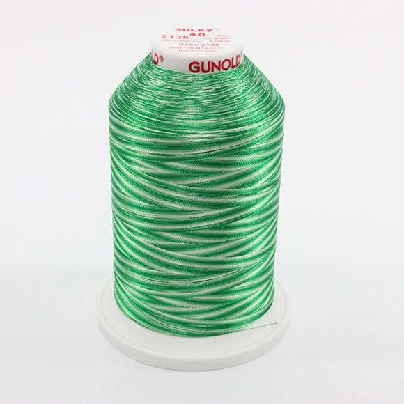 Sulky 40 wt 5500 Yard Rayon Thread - 940-2128 - Willow Greens Var