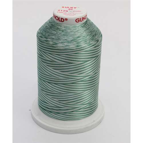 Sulky 40 wt 5500 Yard Rayon Thread - 940-2129 - French Greens Var