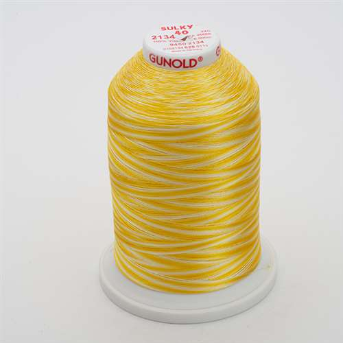 Sulky 40 wt 5500 Yard Rayon Thread - 940-2134 - Golden Yellows Var