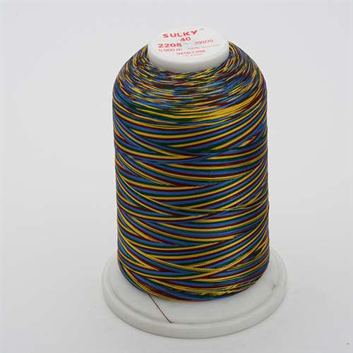 Sulky 40 wt 5500 Yard Rayon Thread - 940-2208 - Burg/Green/Blue/Tan