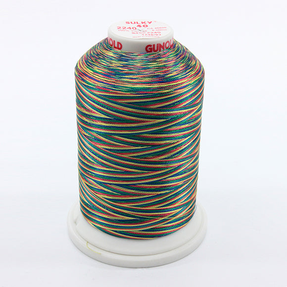Sulky 40 wt 5500 Yard Rayon Thread - 940-2240 - Gr/Coral/Blue/Yell