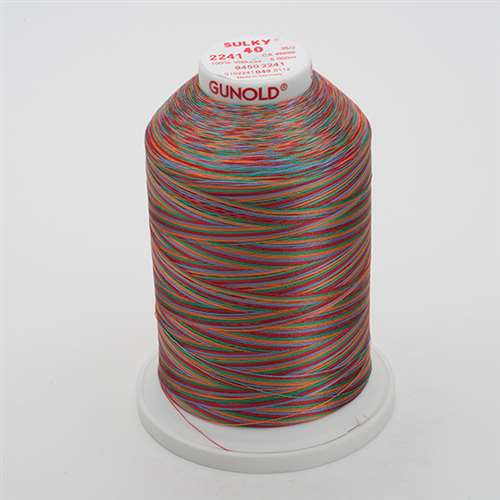 Sulky 40 wt 5500 Yard Rayon Thread - 940-2241 - Peach/Blue/Rust/Grn