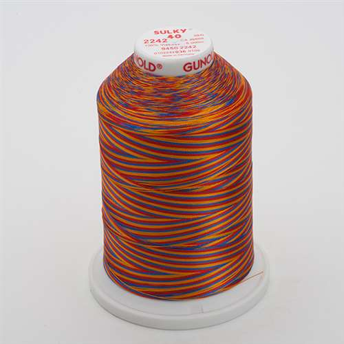 Sulky 40 wt 5500 Yard Rayon Thread - 940-2242 - Red/Gold/Blue