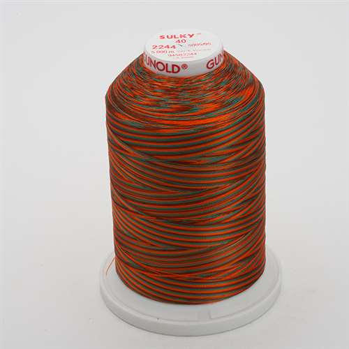 Sulky 40 wt 5500 Yard Rayon Thread - 940-2244 - Coral/Brown/Teal
